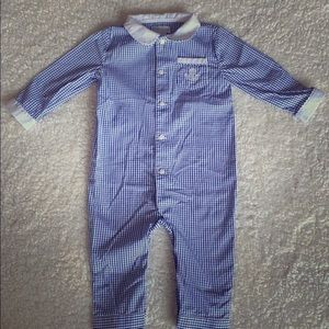 Ralph Lauren windowpane one piece 9 months